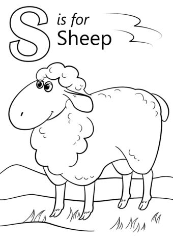 smore coloring sheet letter s is for sheep coloring page from letter s category smore coloring sheet