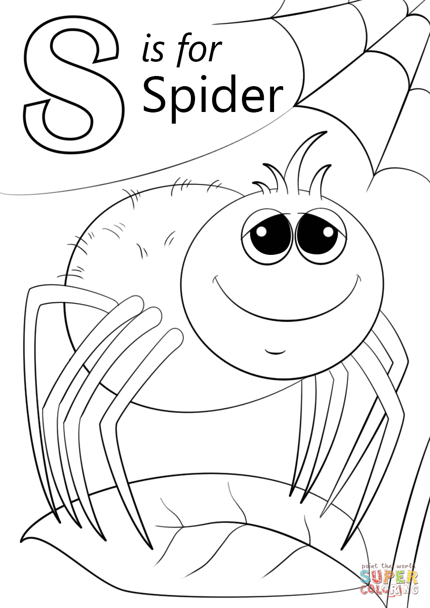 smore coloring sheet letter s is for spider coloring page from letter s sheet coloring smore