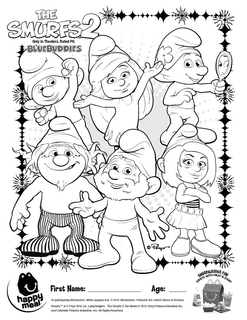 smurfs 2 coloring pages the smurfs 2 coloring pages for kids printable free coloring smurfs pages 2