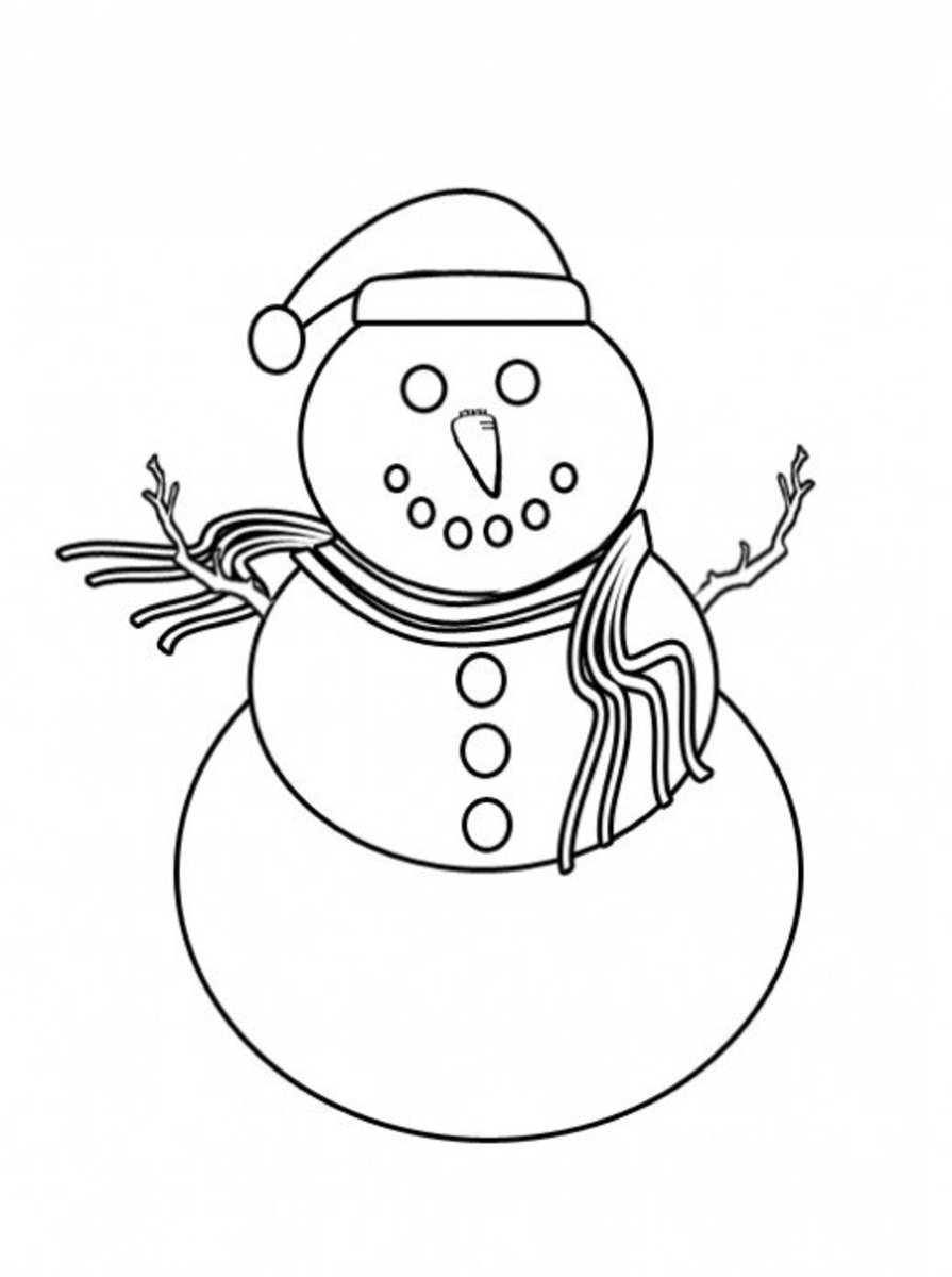 snowman coloring page free winter coloring pages and crafts hubpages coloring snowman page