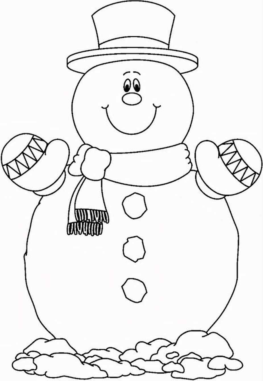 snowman coloring page snowman coloring pages to download and print for free snowman page coloring