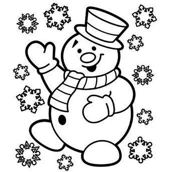 snowman coloring page the snowman is very joyful on christmas coloring page page coloring snowman