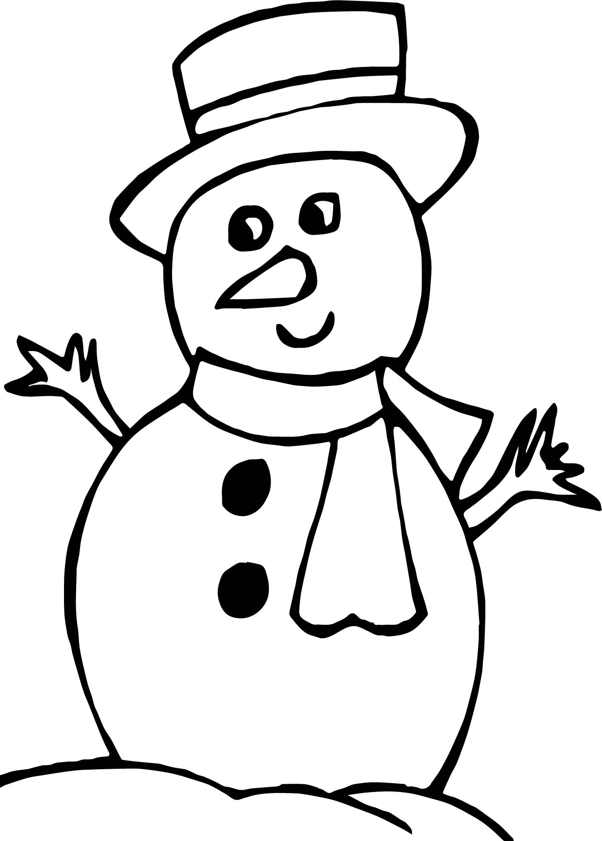 snowman coloring sheet mr snowman is very happy for christmas coloring page sheet snowman coloring