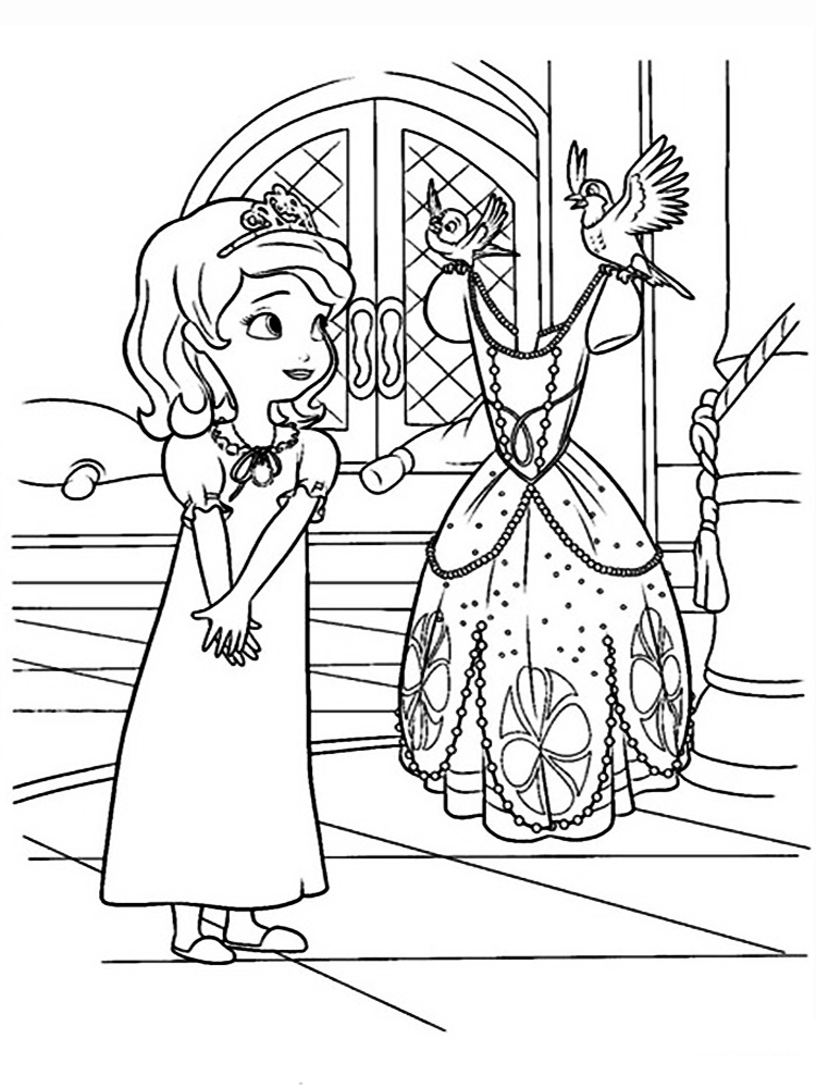 sofia first coloring pages free sofia the first coloring book printable transparent pages first coloring sofia