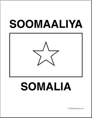 somalia flag coloring page clip art flags somalia coloring page abcteach coloring flag page somalia