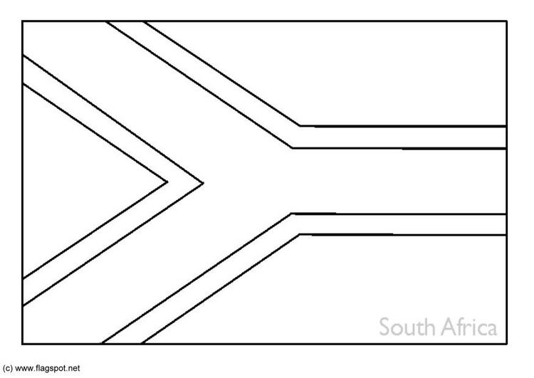 south african flag outline south africa flag coloring page south flag african outline