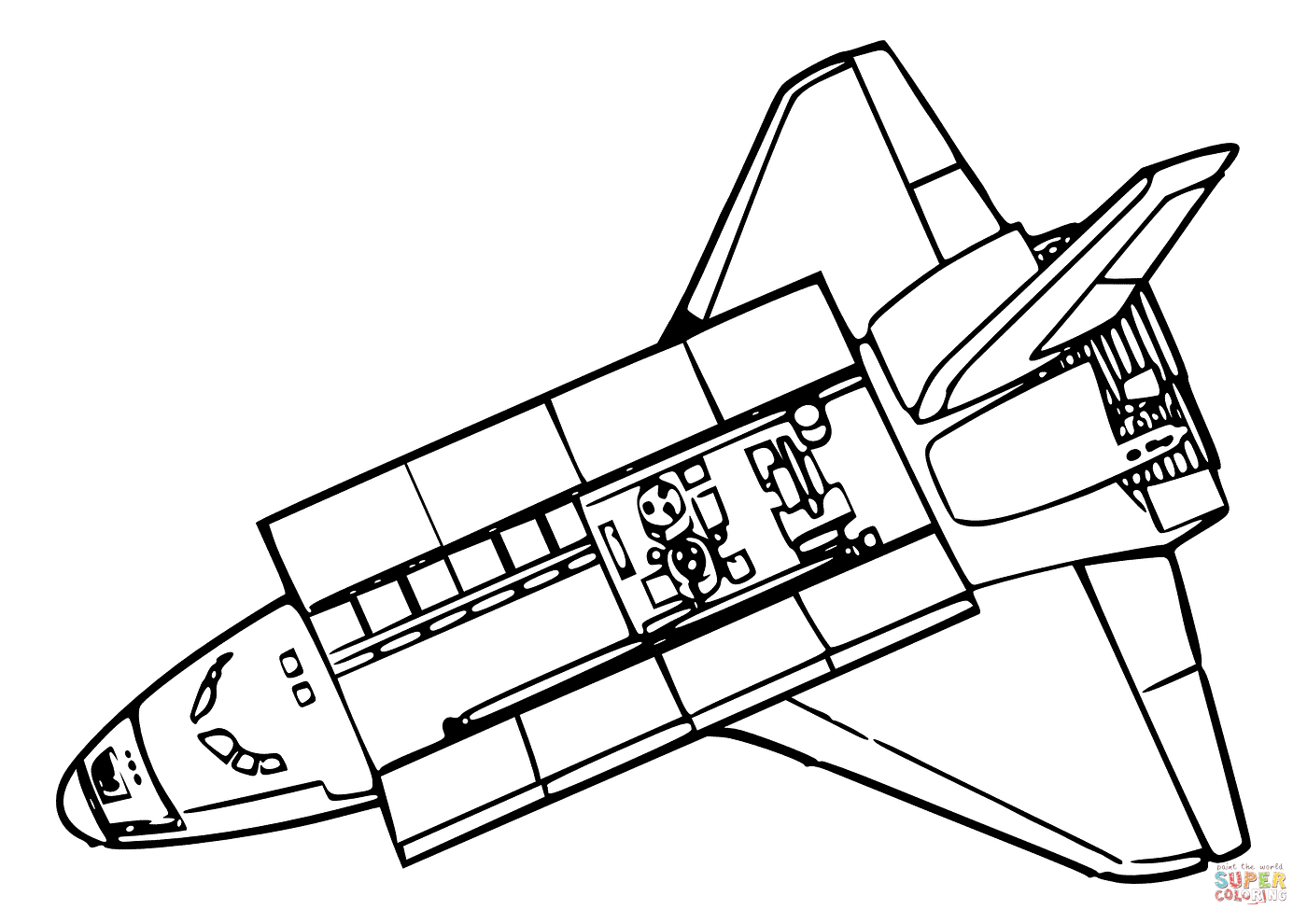 space shuttle coloring pages disegno di vista dall39alto di space shuttle da colorare space shuttle coloring pages