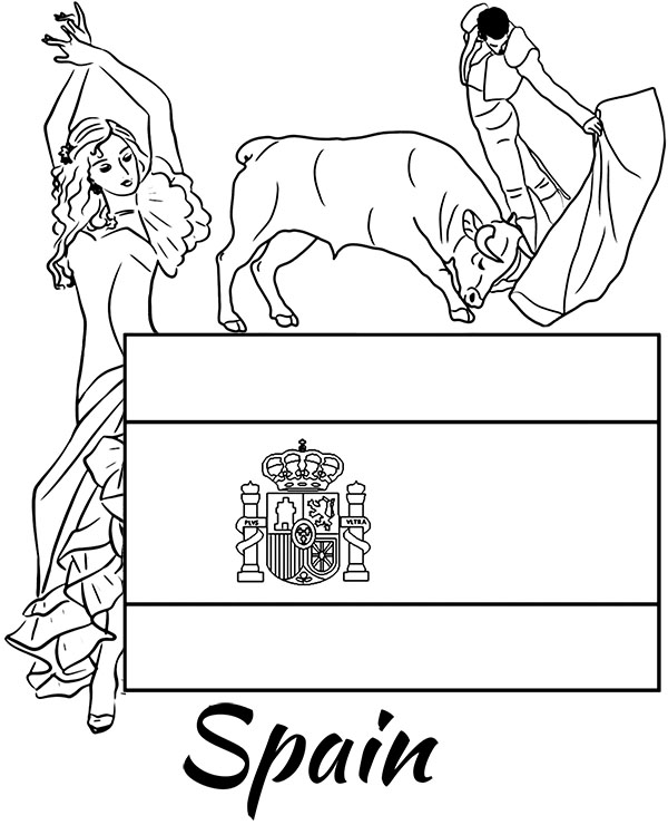 spanish pictures to colour spanish coloring pages at getcoloringscom free pictures to colour spanish