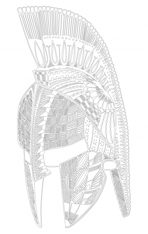 spartan helmet coloring pages vector illustration of a black and white lineart spartan coloring spartan helmet pages