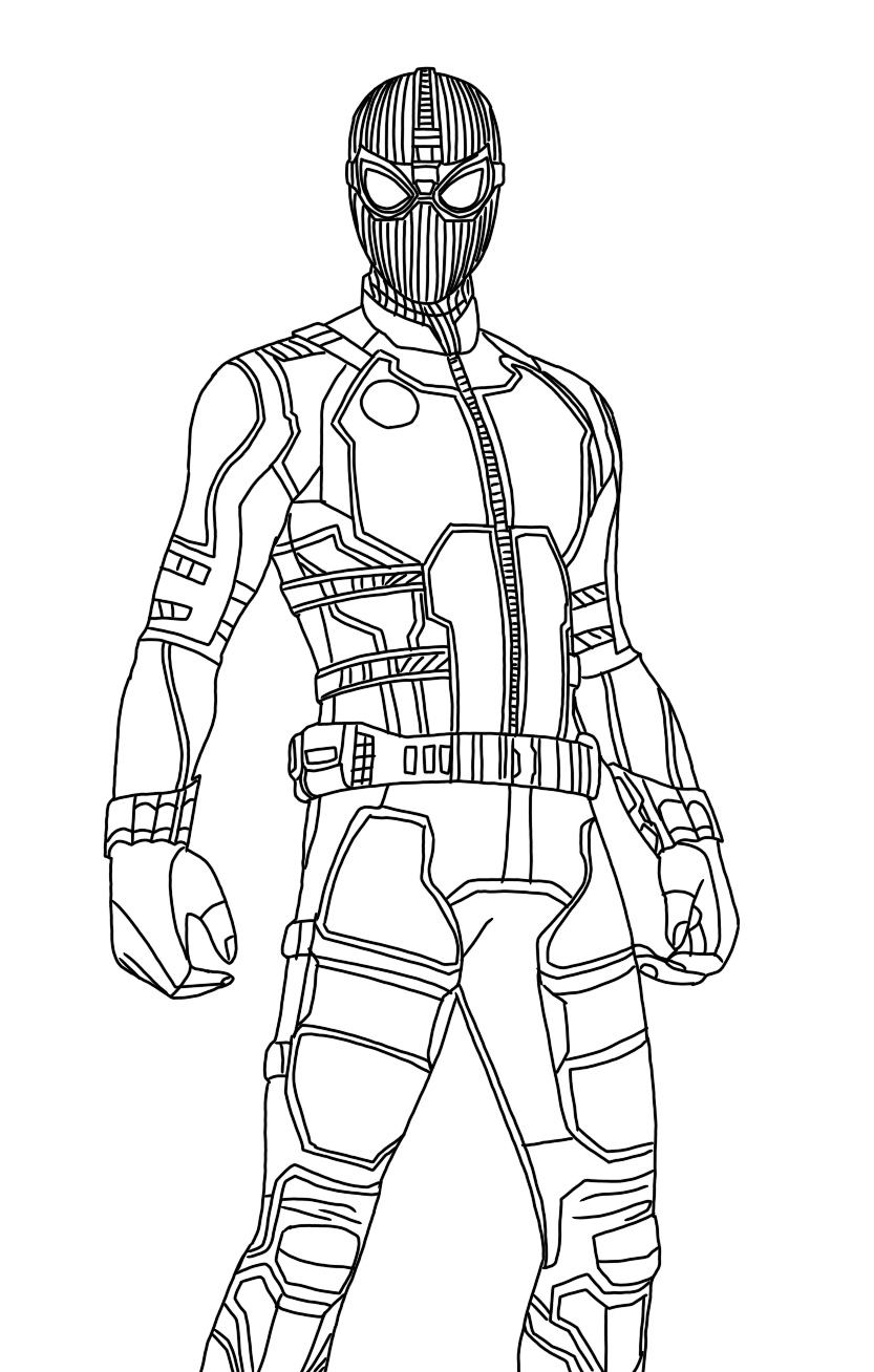 spider man stealth suit coloring page how to draw spider man stealth suit spider man far from page stealth spider coloring man suit