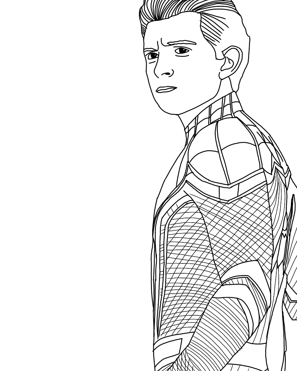 spider man stealth suit coloring page spider man far from home drawing easy for kids spider stealth coloring suit man page