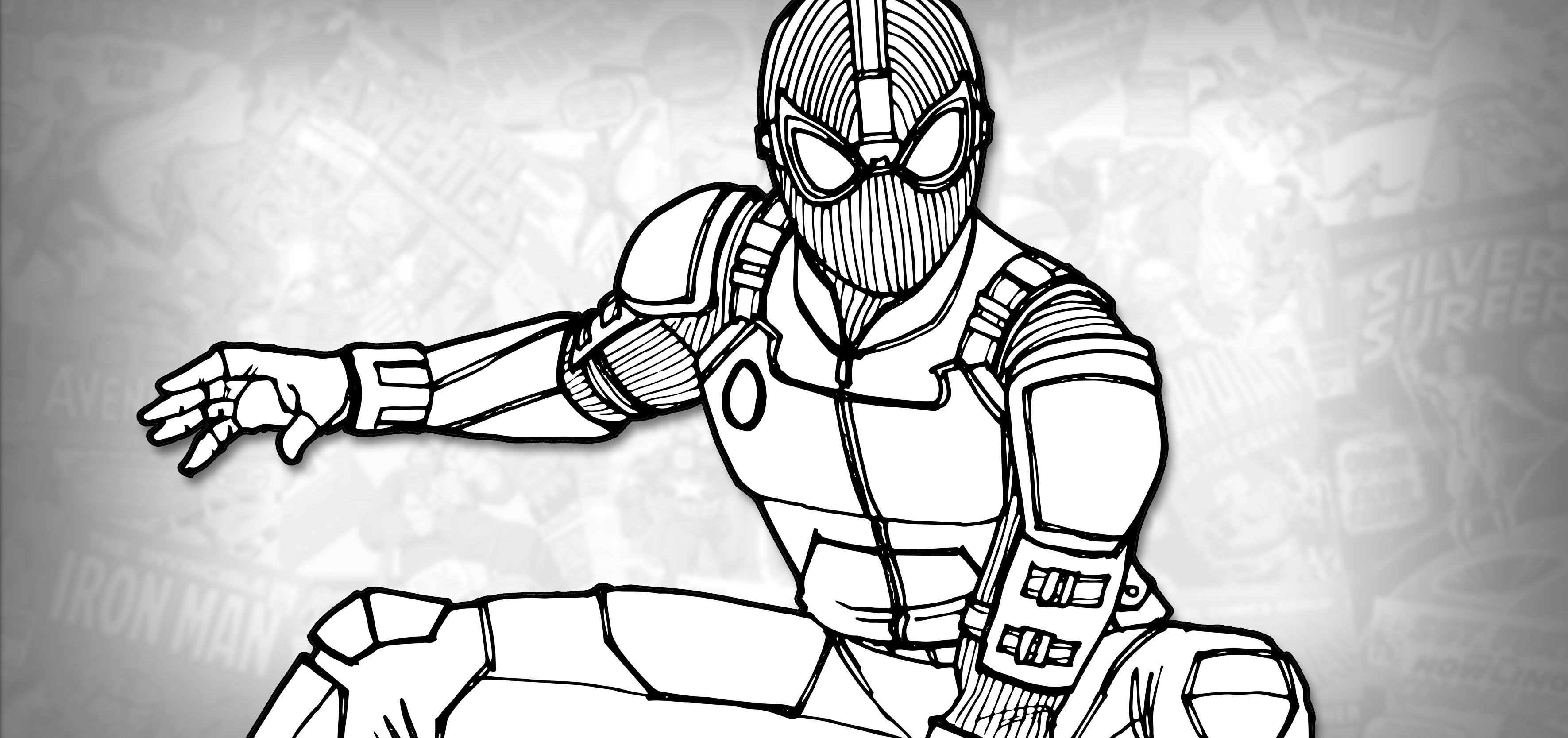 spider man stealth suit coloring page spider man superhero coloring pages stealth spider suit page man coloring