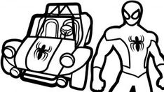 spiderman car coloring pages lego coloring pages for kids coloring spiderman car pages