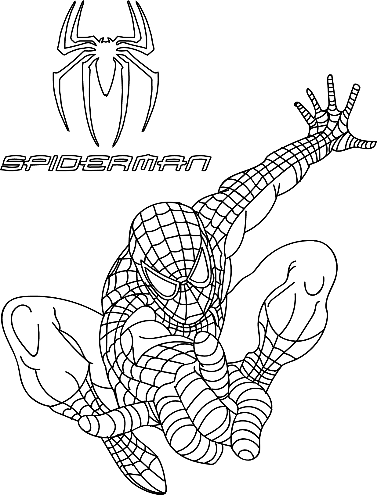 spiderman car coloring pages spiderman and lightning mcqueen with new year 2018 tree spiderman coloring pages car
