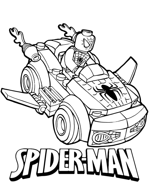 spiderman car coloring pages spiderman car coloring pages at getdrawings free download car coloring spiderman pages