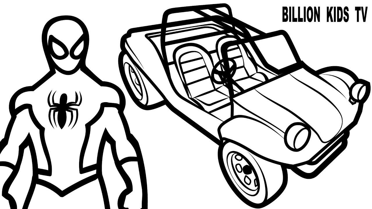 spiderman car coloring pages spiderman car coloring pages at getdrawings free download pages car coloring spiderman