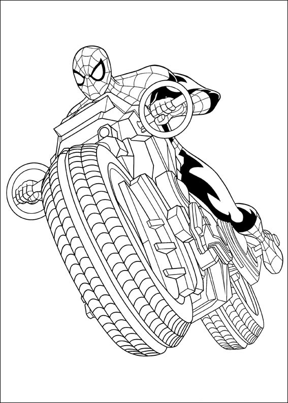 spiderman car coloring pages spiderman driving motorcycle coloring page free car coloring spiderman pages