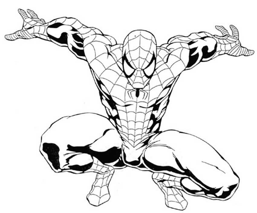 spiderman outline drawing 3 ways to draw spiderman improveyourdrawingscom spiderman outline drawing