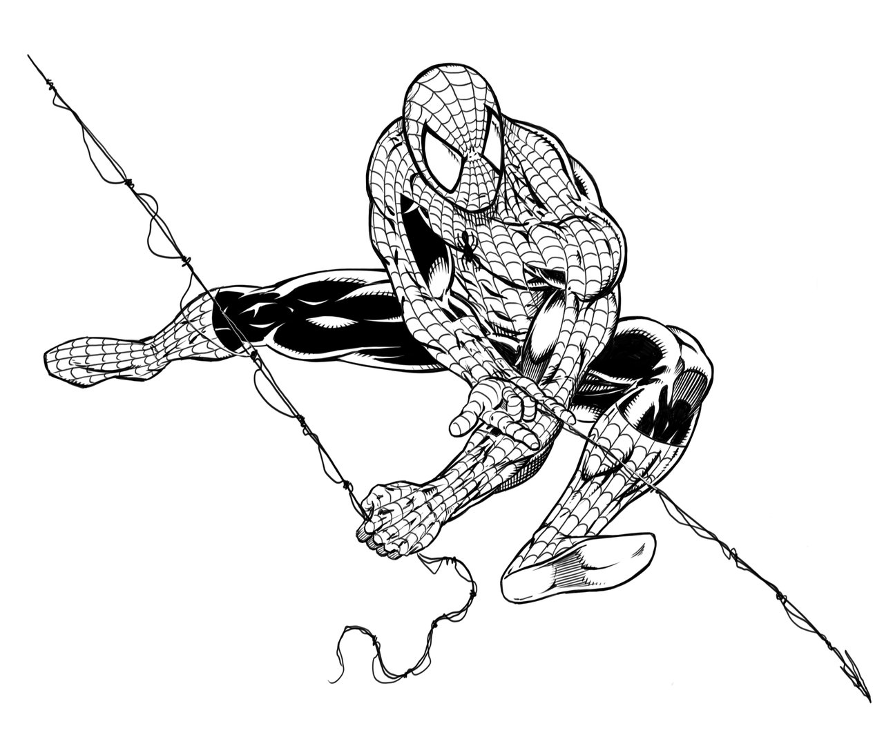 spiderman outline drawing spiderman drawing for kids at paintingvalleycom explore spiderman drawing outline