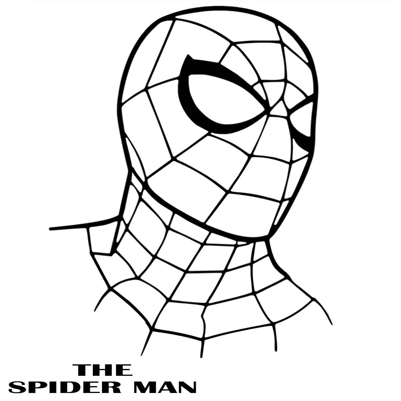 spiderman outline drawing the amazing spider man drawing at getdrawings free download spiderman outline drawing