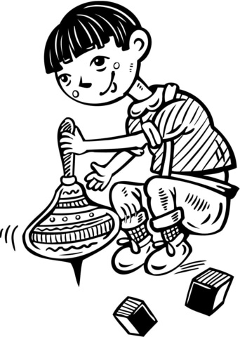 spinning top coloring page spinning top toy drawing sketch coloring page page top spinning coloring