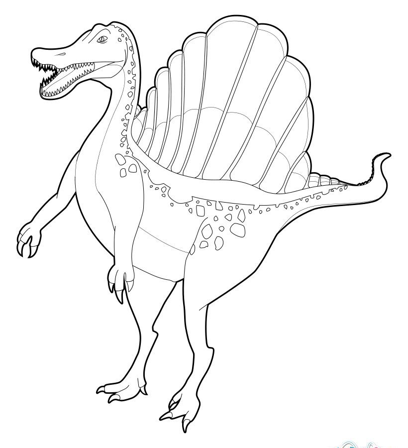 spinosaurus coloring how to draw a spinosaurus for kids step by step coloring spinosaurus