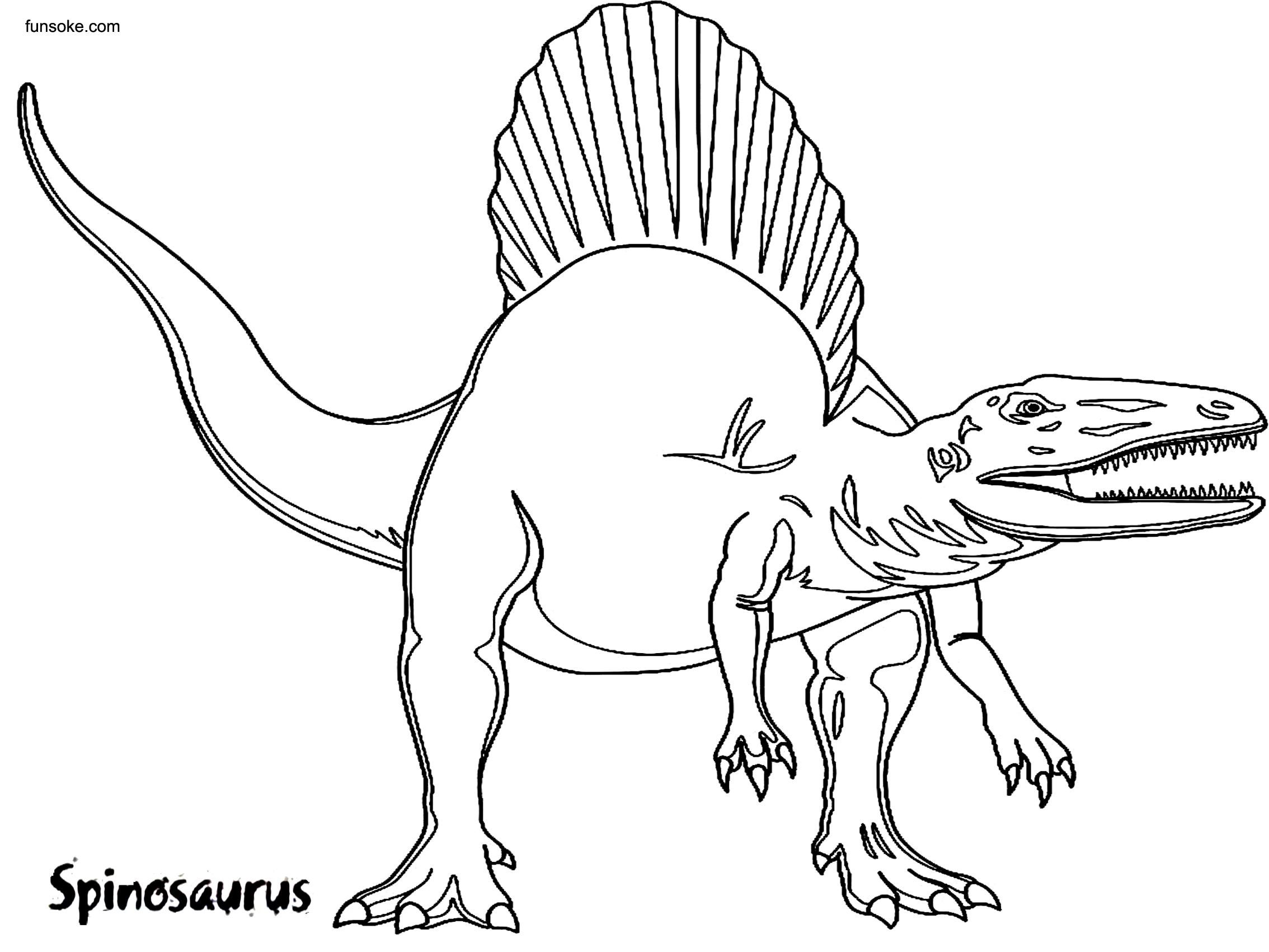 spinosaurus coloring spinosaurus coloring pages to download and print for free spinosaurus coloring