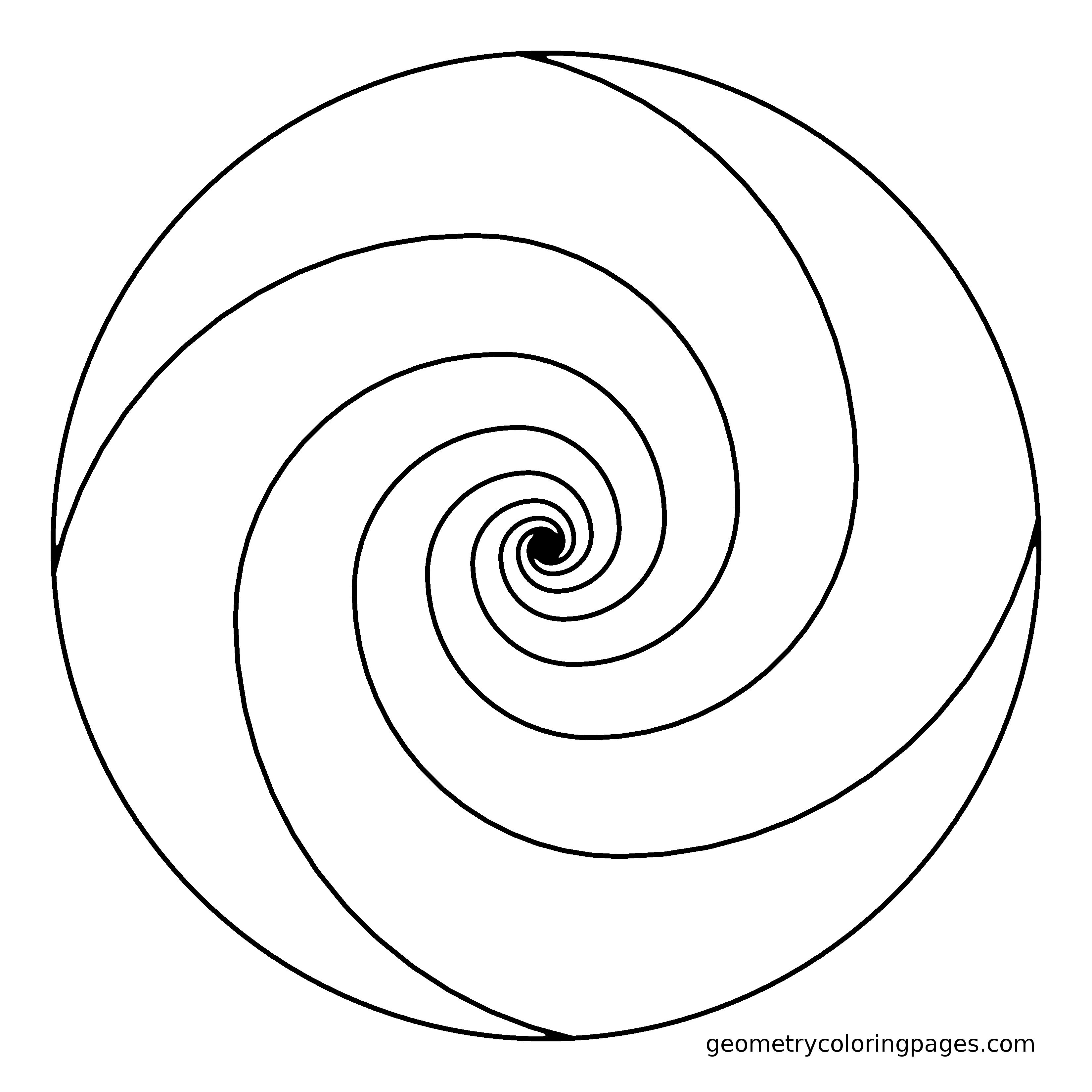spiral pictures to color spiral mandala abstract free printable coloring page to spiral pictures color