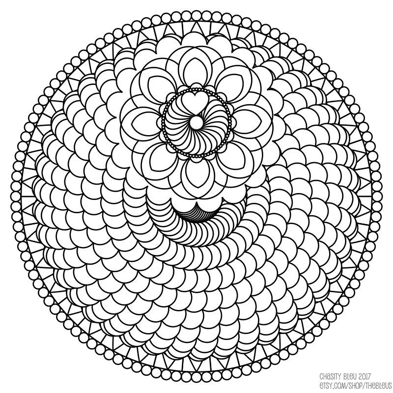 spiral pictures to color spiral mandala coloring page free printable coloring pages color to spiral pictures
