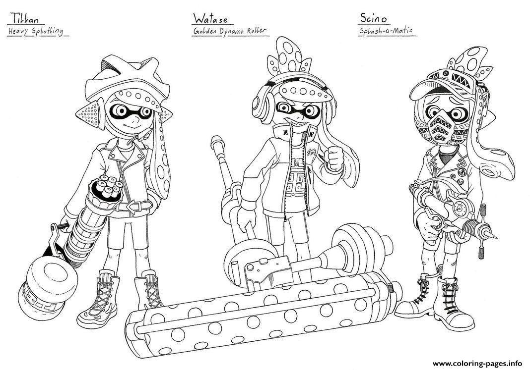 splatoon 2 coloring pages splatoon 2 coloring sheet coloring 2 splatoon pages