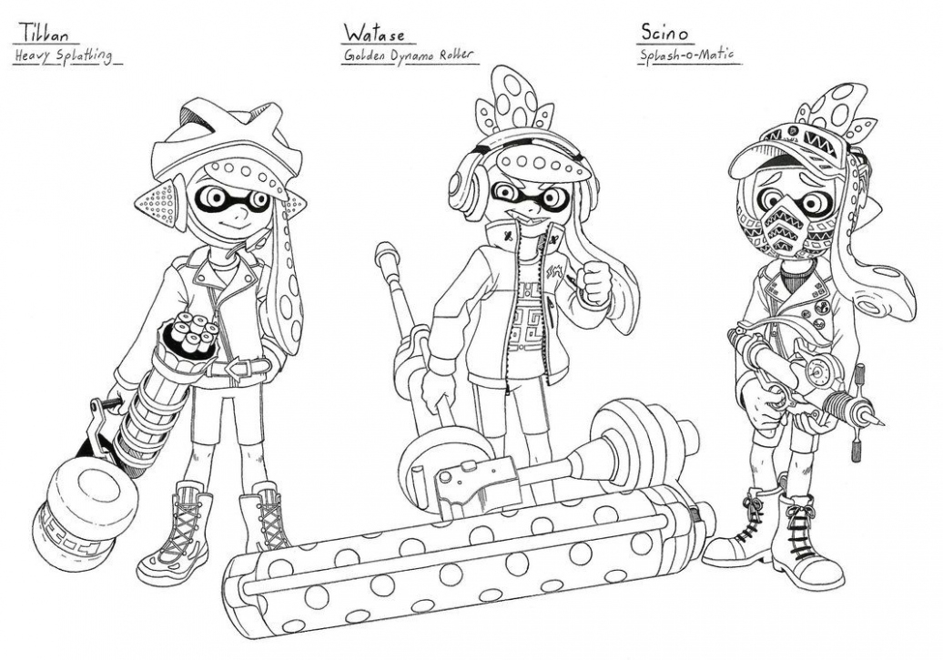 splatoon 2 coloring pages splatoon coloring pages marina and pearl sketch from pages coloring splatoon 2