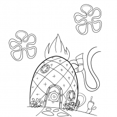 spongebobs pineapple house coloring pages 10 best pineapple coloring pages for toddlers spongebobs house pineapple pages coloring