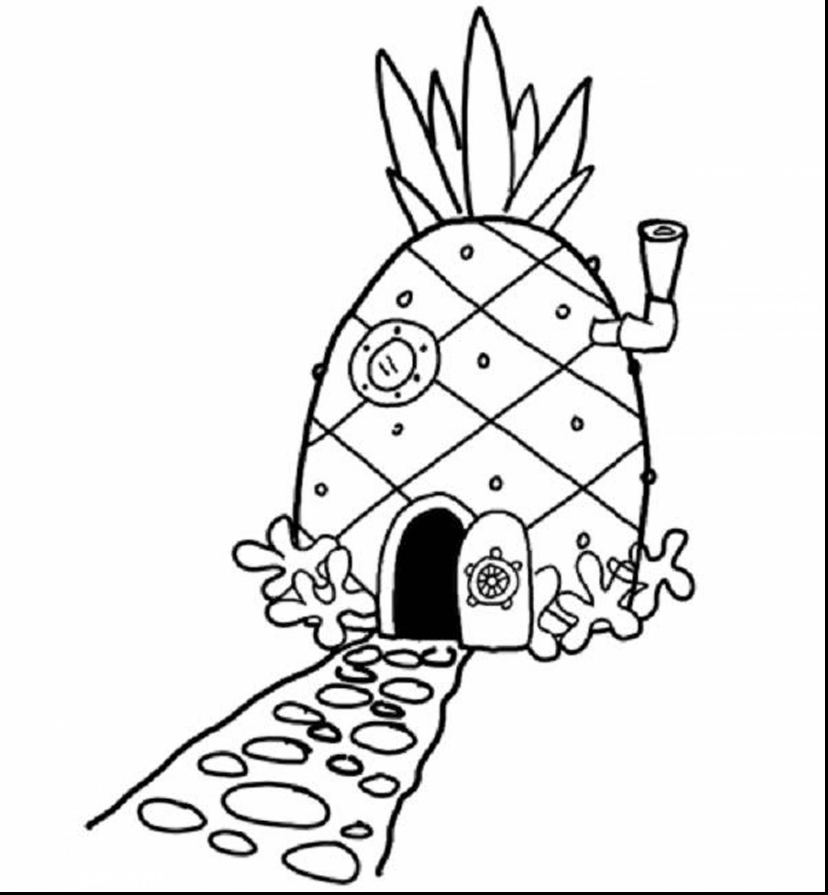 spongebobs pineapple house coloring pages spongebob and patrick drawing at getdrawings free download pineapple coloring pages spongebobs house