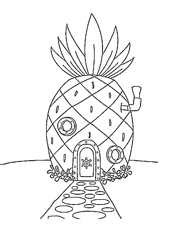 spongebob's pineapple house coloring pages spongebob pineapple house coloring page coloring pages pineapple pages spongebob's coloring house