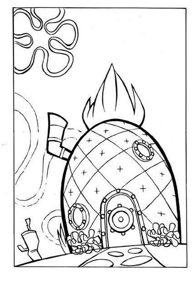 spongebob's pineapple house coloring pages spongebob pineapple house coloring page coloring pages spongebob's pineapple pages house coloring