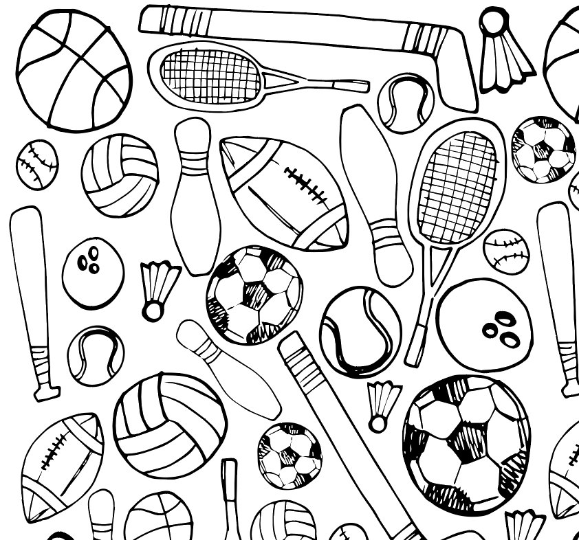 sports pictures to color printable sports coloring page by xolp on etsy to pictures sports color