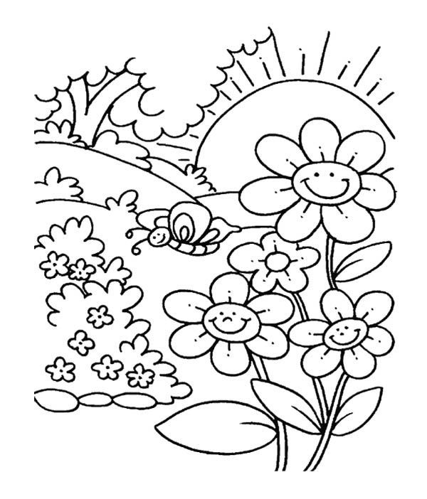 spring nature coloring pages free spring coloring pages download free clip art free coloring spring nature pages