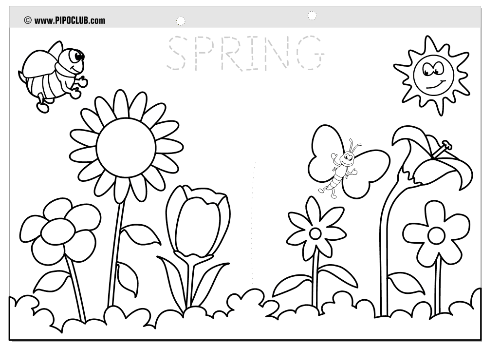 spring nature coloring pages nature coloring pages spring coloring pages coloring pages spring nature