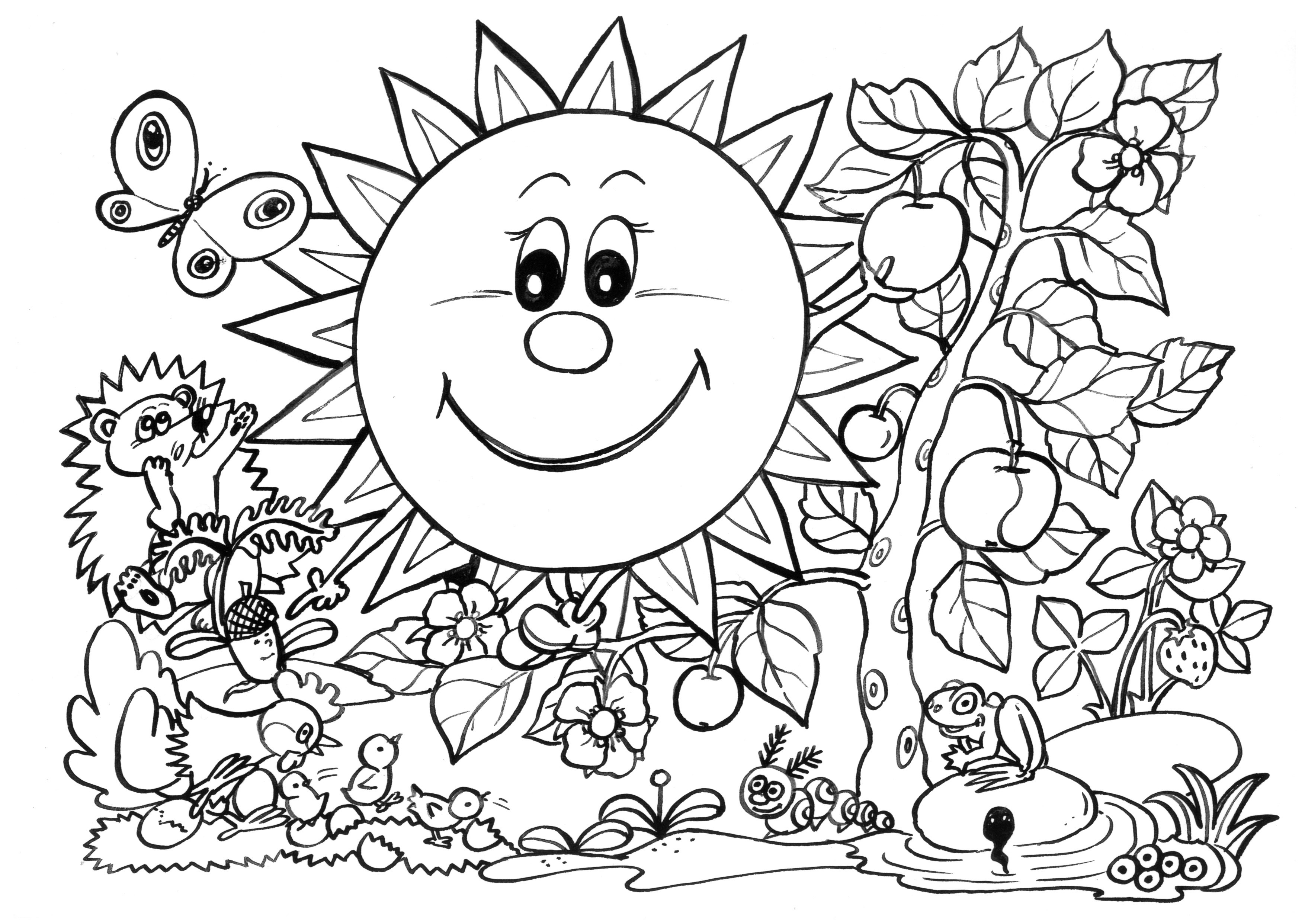 spring nature coloring pages spring coloring pages coloring pages to download and print coloring spring nature pages