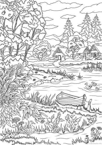spring nature coloring pages spring landscape coloring pages to download and print for free spring pages coloring nature
