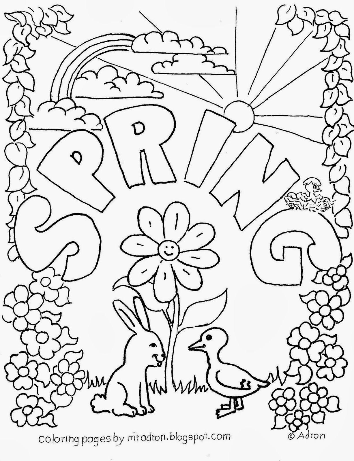 spring nature coloring pages spring landscape drawing at getdrawings free download nature coloring pages spring