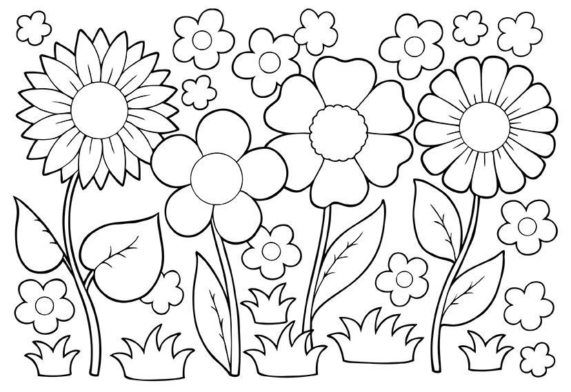 spring nature coloring pages spring nature coloring pages nature spring pages coloring