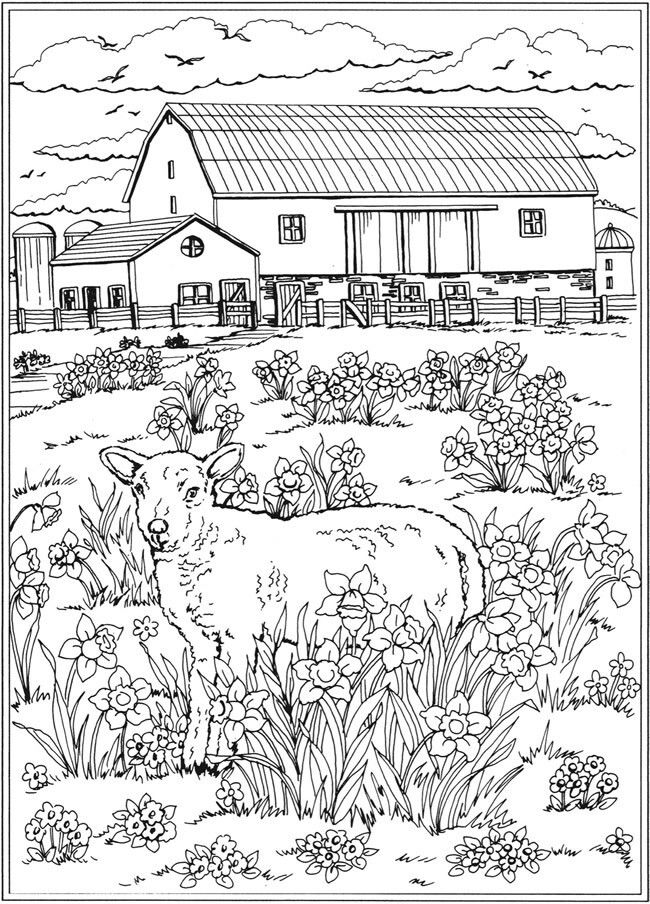 spring nature coloring pages spring season 164921 nature printable coloring pages coloring nature spring pages