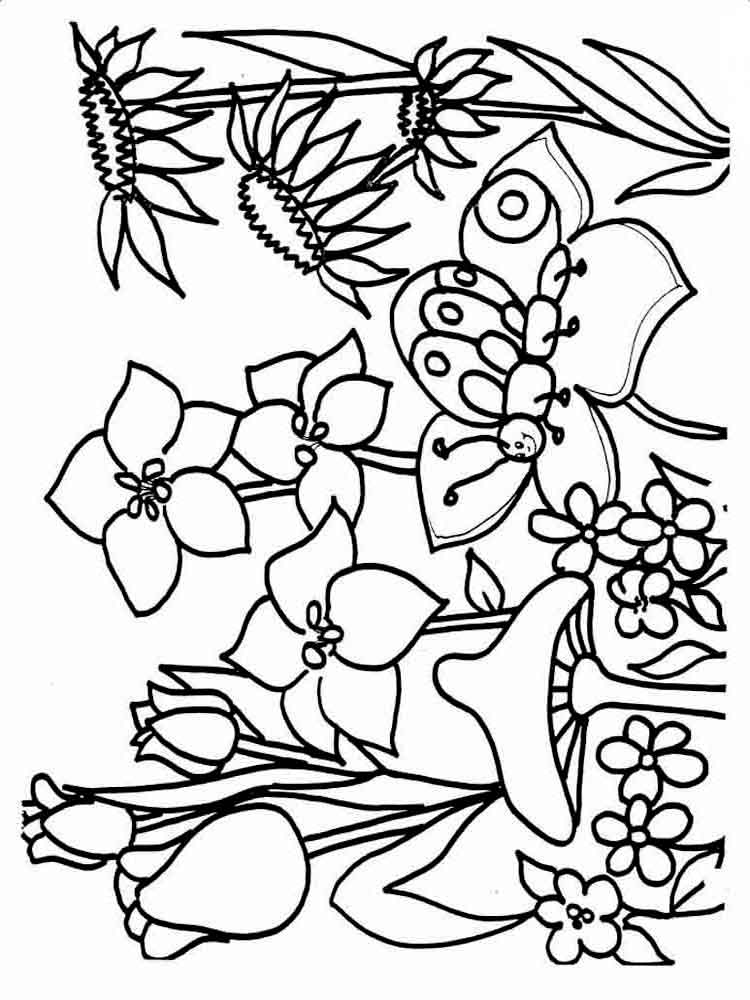 spring nature coloring pages spring season nature printable coloring pages pages nature coloring spring