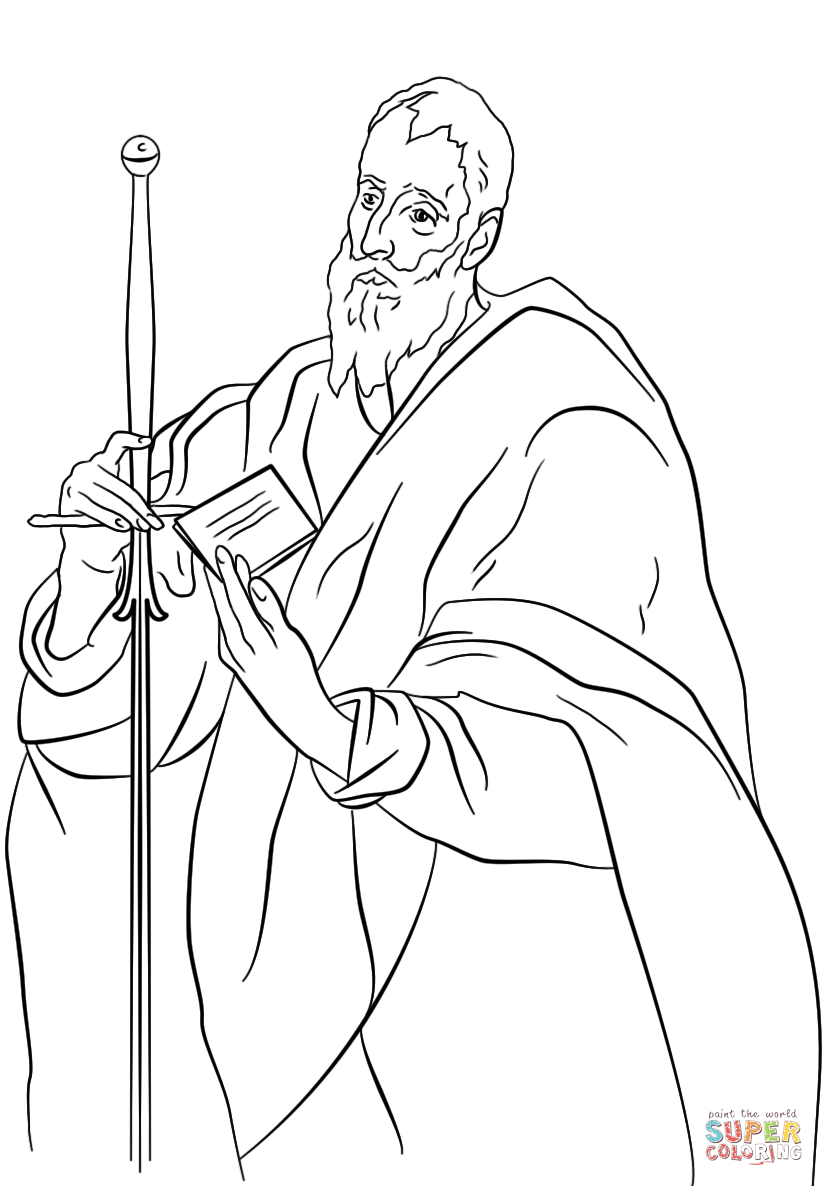 st paul coloring page free coloring page saint paul of the cross schola rosa page st coloring paul