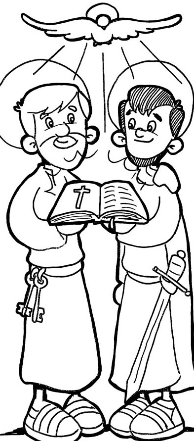 st paul coloring page st paul coloring page paul coloring st page