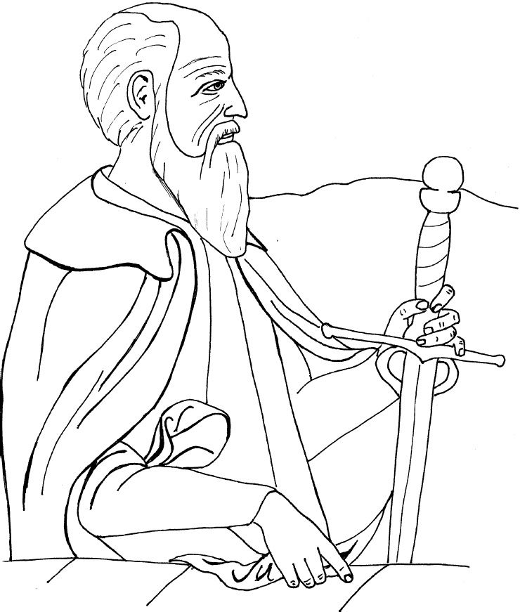 st paul coloring page st paul the apostle colouring pages google search paul page coloring st