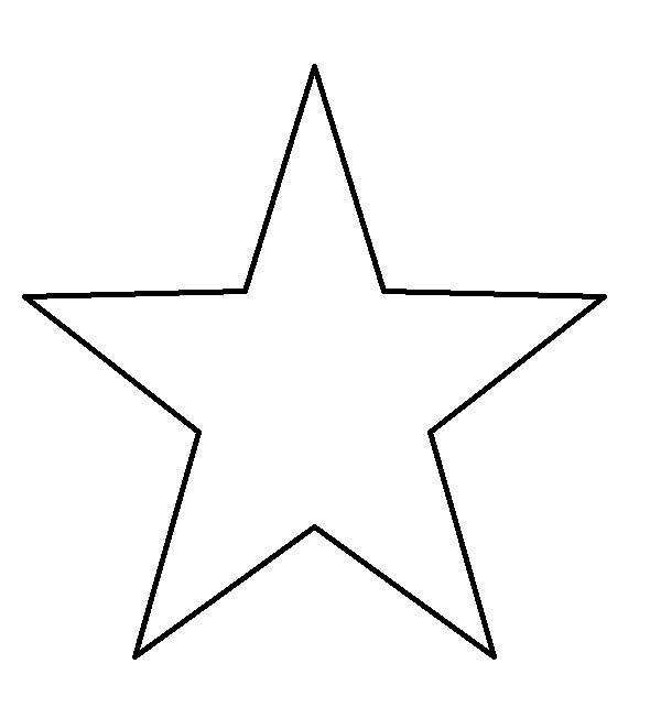 star outline coloring page five pointstartemplate star coloring pages flag coloring outline star page