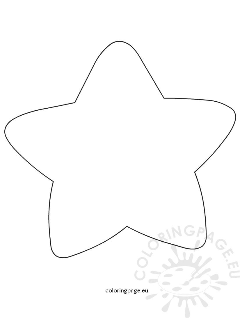 star outline coloring page large star template coloring page outline coloring star page