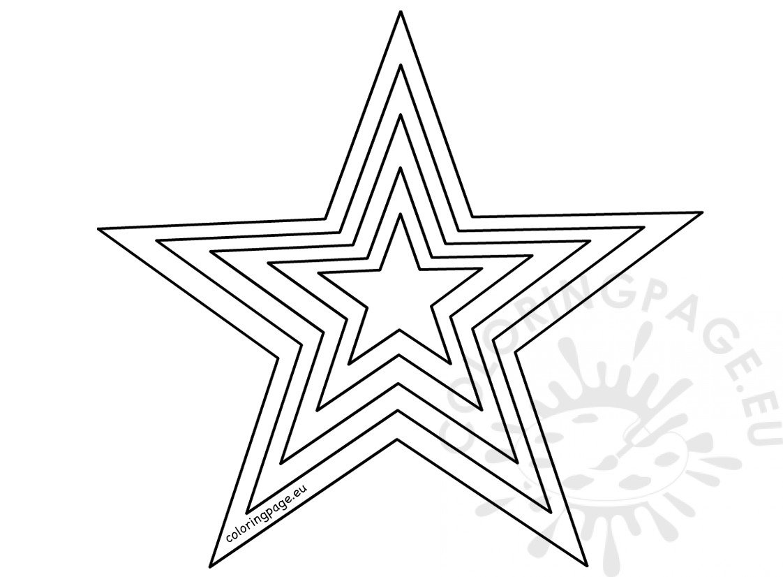 star outline coloring page printable size star template coloring page outline page coloring star